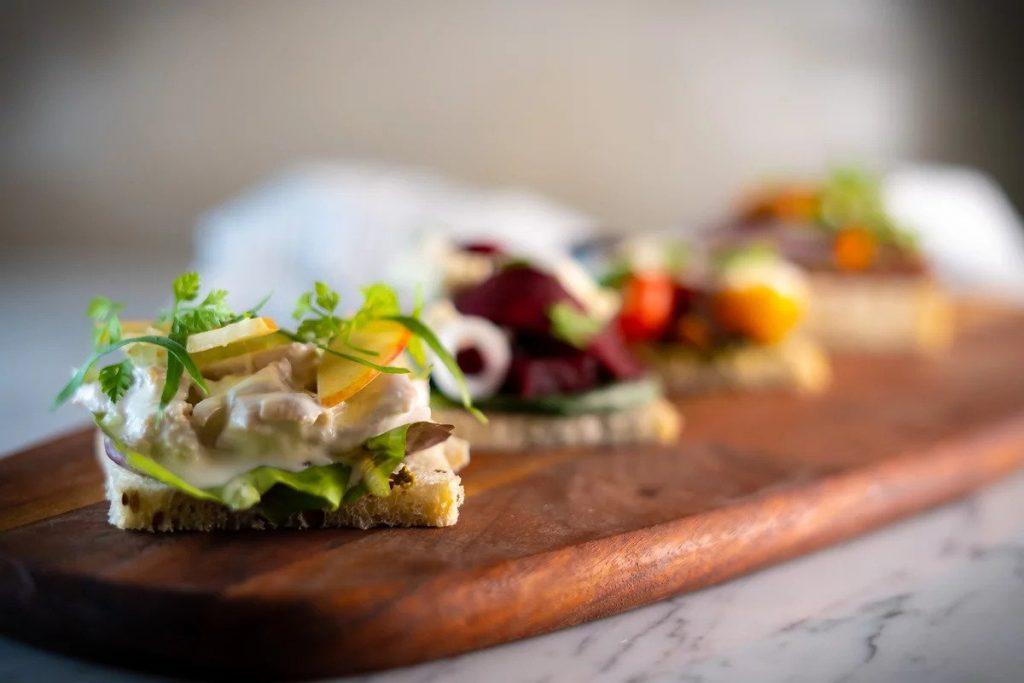 catering menu: buffet sharing Sandwich